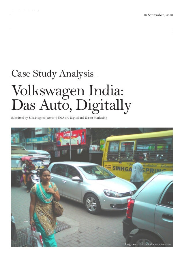 Volkswagen India: Das Auto Digitally Harvard Case Solution & Analysis