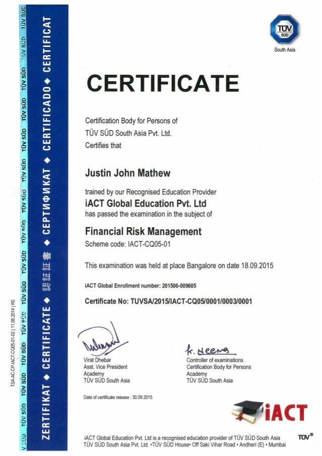 frm certificate certification slideshare upcoming pdf