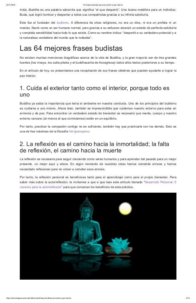 64 Frases Budistas Para Encontrar La Paz Interior