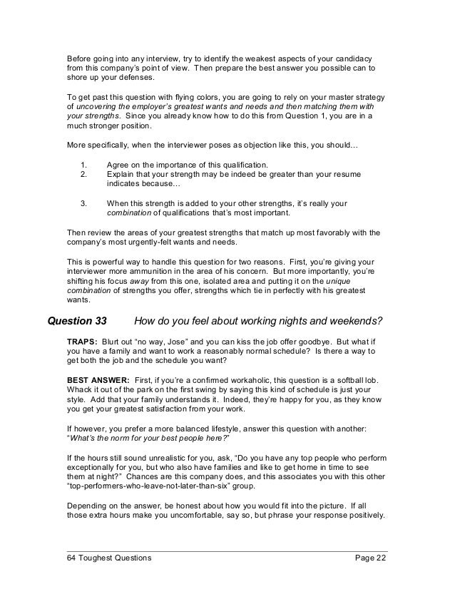 Great 64 Toughest Questions Page 21; 25.