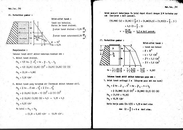 16 penyelesaian mekanika tanah 24 a ccuart Image collections