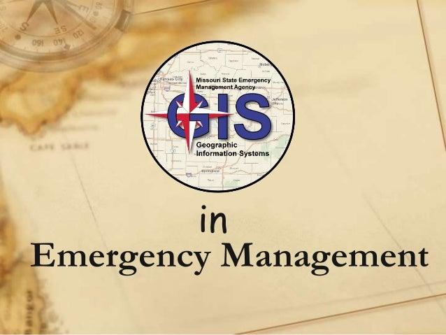 in Emergency Management