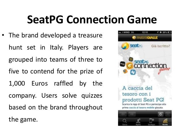 Seat Pg Connection Game Gamification In Customer Engagement