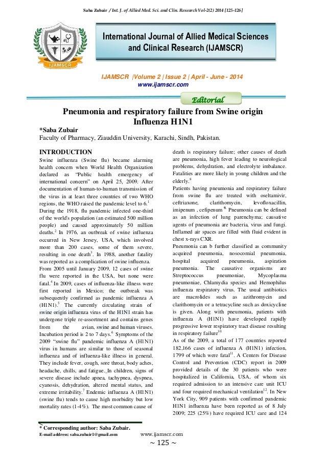 Saba Zubair / Int. J. of Allied Med. Sci. and Clin. Research Vol-2(2) 2014 [125-126] * Corresponding author: Saba Zubair. ...