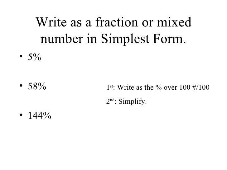 6.5: Fractions, Decimals, and Percents