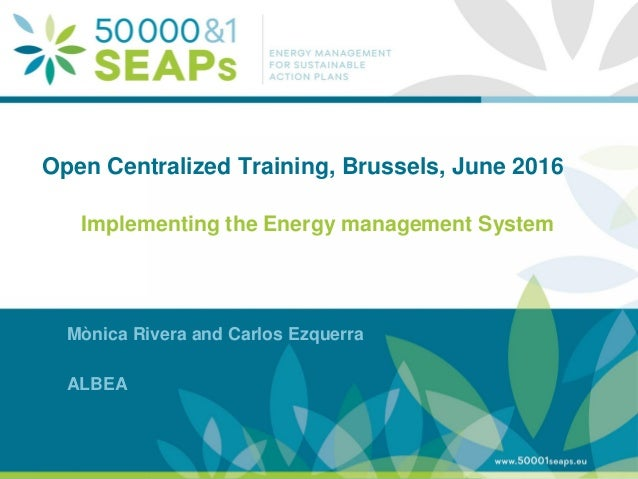 Supporting Local Authoritites in the Development and Integration of SEAPs with Energy management SystemsAccording to ISO 5...