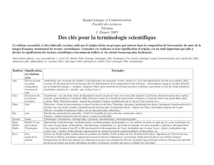 Equipe Langue et Communication                                                                            Faculté des scie...
