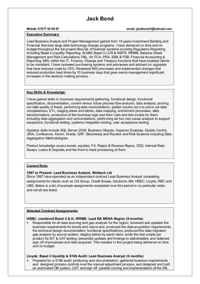 Cv template jack bond cv template jack bond jack bond mobile 07977 03 88 97 email jackbond1hotmail executive wajeb Image collections