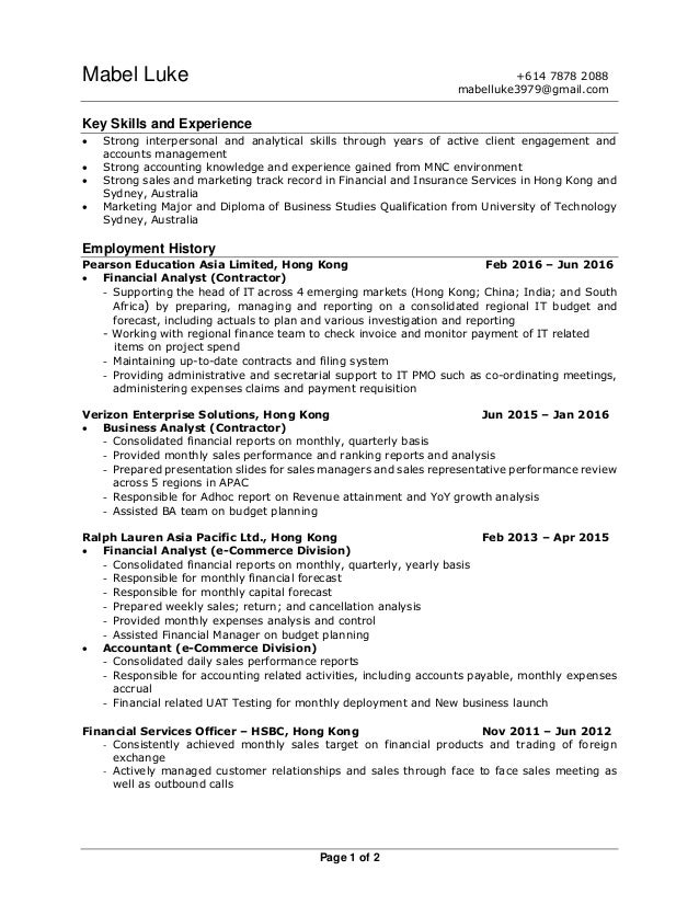 mabel resume AU