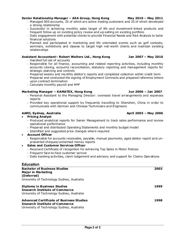 Perfect Sydney Accounting Resume Embellishment - Administrative ...