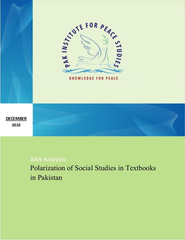Polarization Of Social Studies In Textbooks In Pakistan
