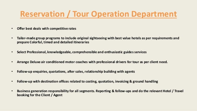 Travel Agency Operation