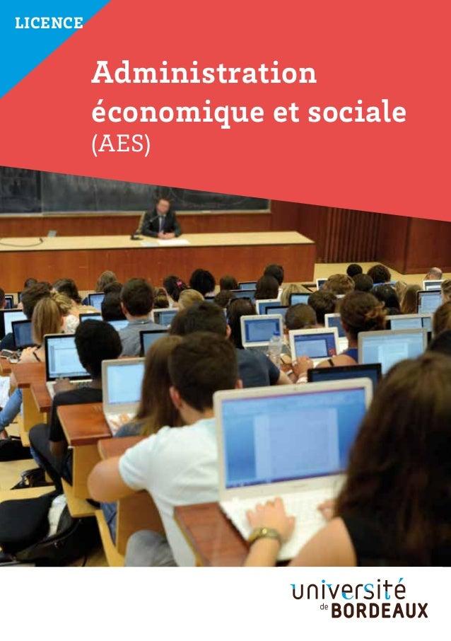Licence Administration économique et sociale (AES)