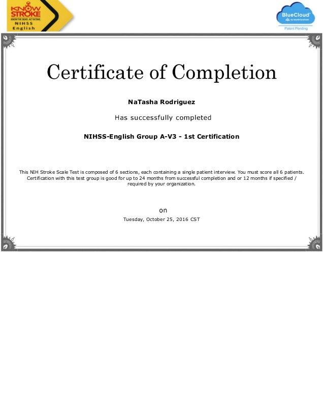 Stroke Certificate