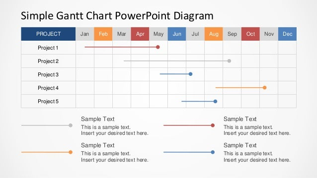 Simple gantt chart powerpoint diagram slidemodel simple gantt chart powerpoint diagram project jan feb mar apr may jun jul aug sep oct ccuart Gallery