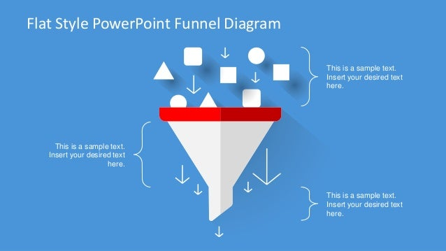 Slidemodel flat design powerpoint funnel diagram flat stylepowerpoint funnel diagram this is a sample text insert your desired text here ccuart Choice Image