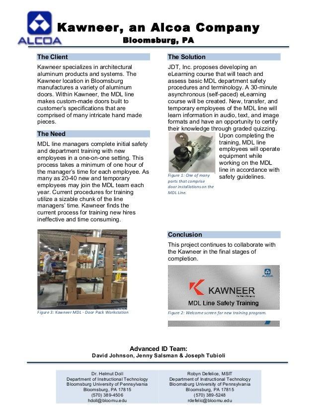 Kawneer an Alcoa Company Bloomsburg PA Dr. Helmut Doll Department of Instructional Technology  sc 1 st  SlideShare & CACflyer
