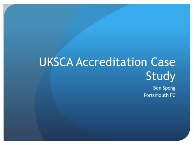 UKSCA Accreditation Case Study Ben Spong Portsmouth FC