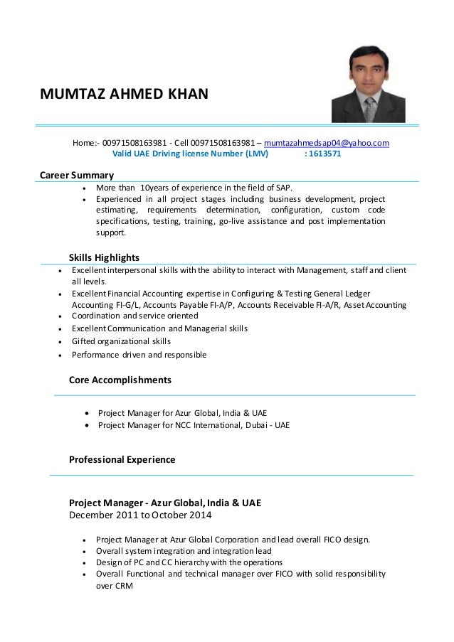 mumtaz cv project manager