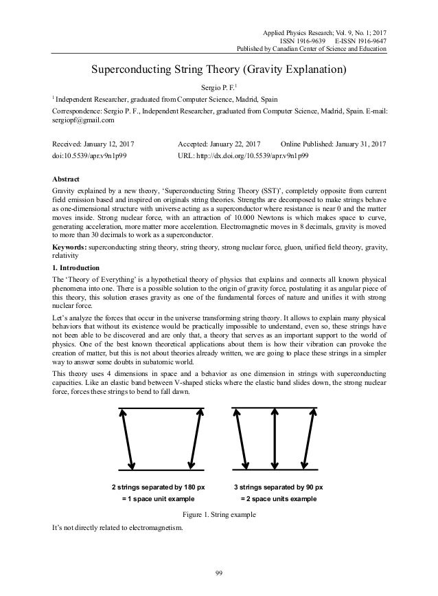 Applied Physics Research; Vol. 9, No. 1; 2017 ISSN 1916-9639 E-ISSN 1916-9647 Published by Canadian Center of Science and ...
