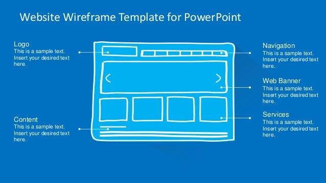 Slidemodel website wireframe powerpoint template website wireframe template for powerpoint toneelgroepblik Images
