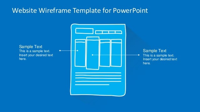 Slidemodel website wireframe powerpoint template website wireframe template for powerpoint toneelgroepblik Choice Image
