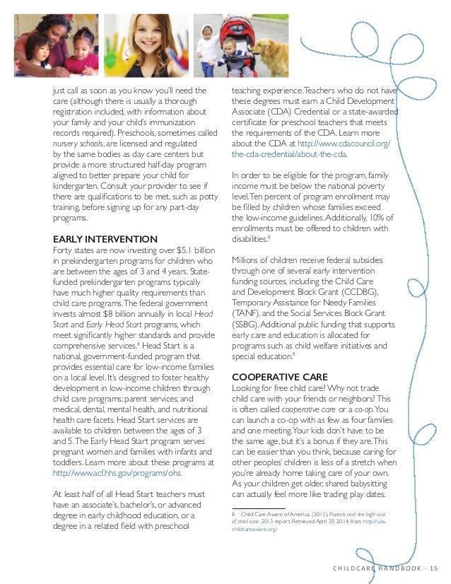 child care provider handbook pdf
