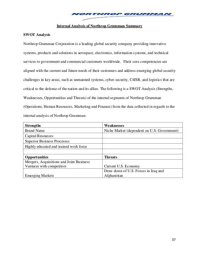 Northrop Grumman Corporation SWOT Analysis