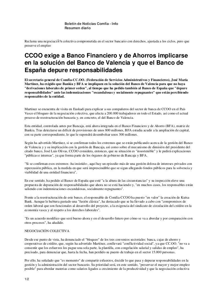 Boletín de Noticias Comfia - Info                             Resumen diarioReclama una negociación colectiva comprometid...