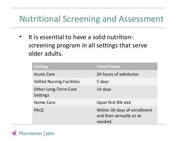 Nutrition Support in the Elderly NPA 2015