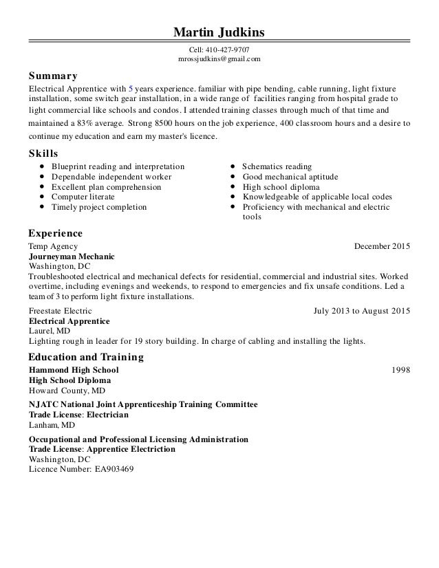 Martin judkins resume 1 summary skills experience education and training martin judkins cell 410 427 9707 mrossjudkins malvernweather Image collections