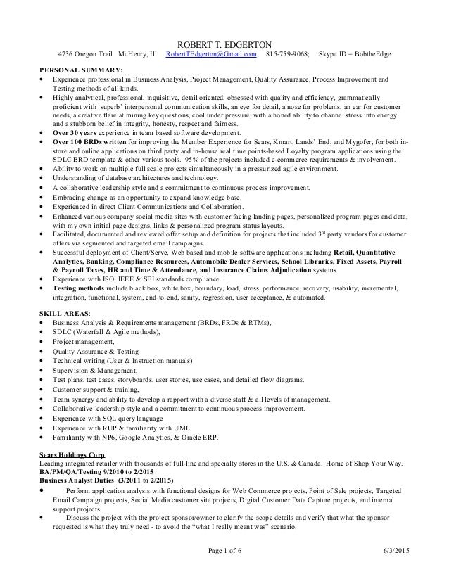 ba pm qa full resume