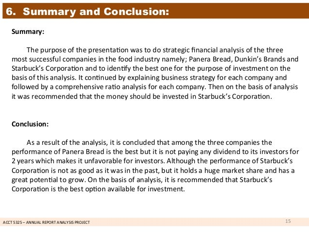 Annual Report Analysis Project – Annual Report Analysis Sample