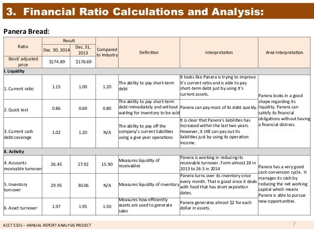 financial analysis of starbucks vs panera One of the easiest ways to learn how to perform a financial statement analysis is to walk through a sample explanation download the examples provided here and follow the steps of the process for both a vertical and horizontal analysis.