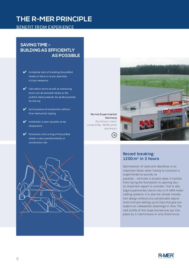 ... 8.  sc 1 st  SlideShare & R-MER Metal Roofing Systems - System at a glance memphite.com