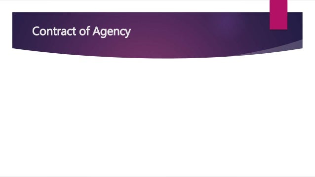 Termination of Agency | Act of the Parties | Operation of Law