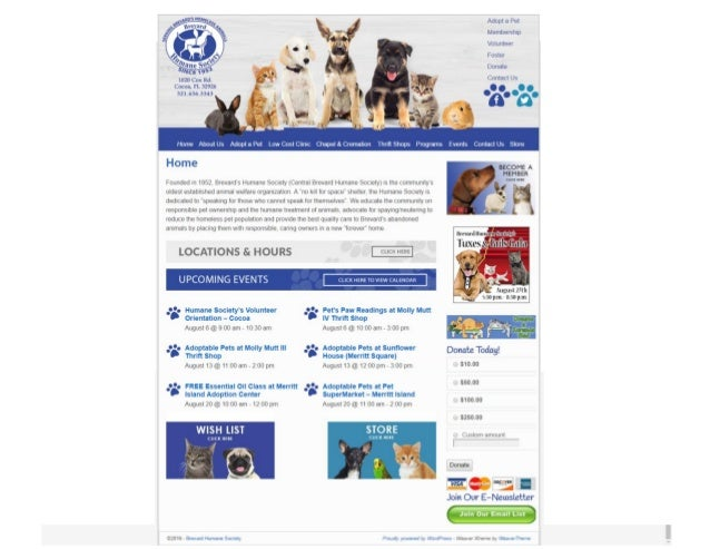 Humane Society's Website
