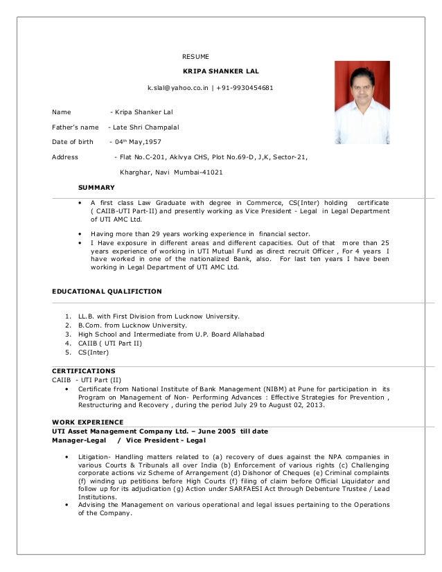 ksl resume 30042015