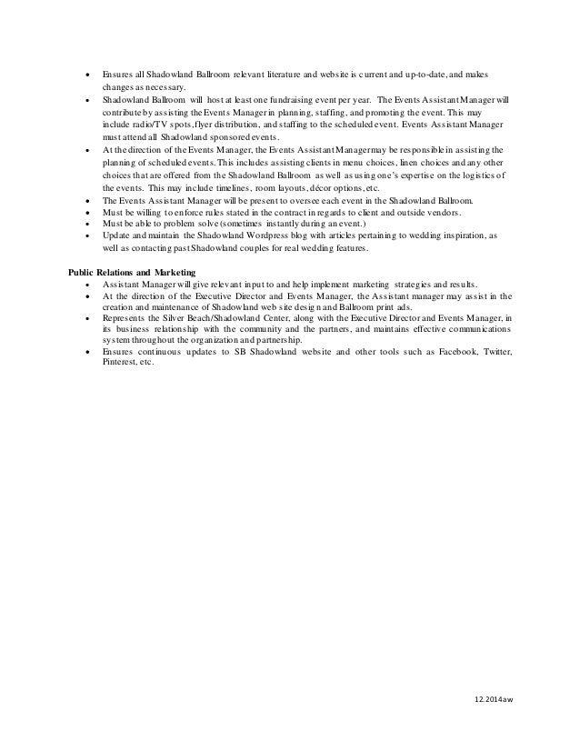 Assistant Manager Job Description – Assistant Manager Job Description
