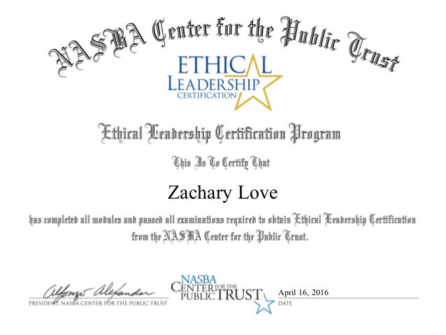 Ethical Leadership Certificate