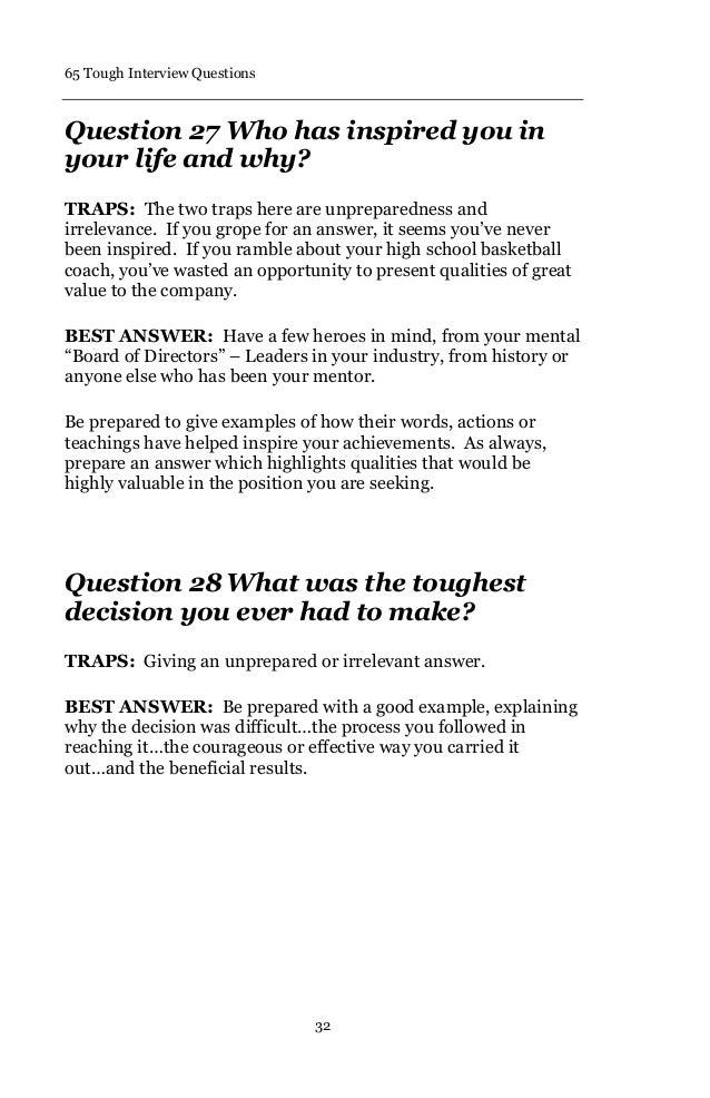 Superb 36. 65 Tough Interview Questions ...