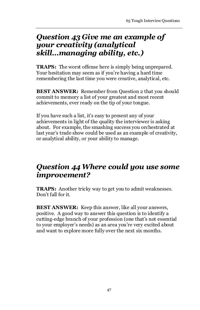 65 Interviewquestions