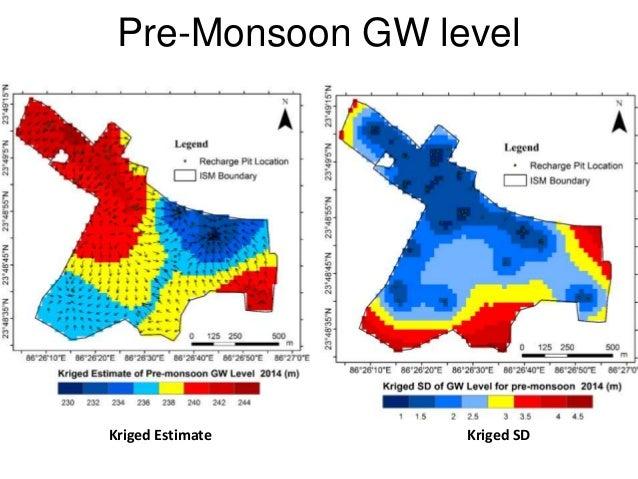 Pre-Monsoon GW level Kriged SDKriged Estimate