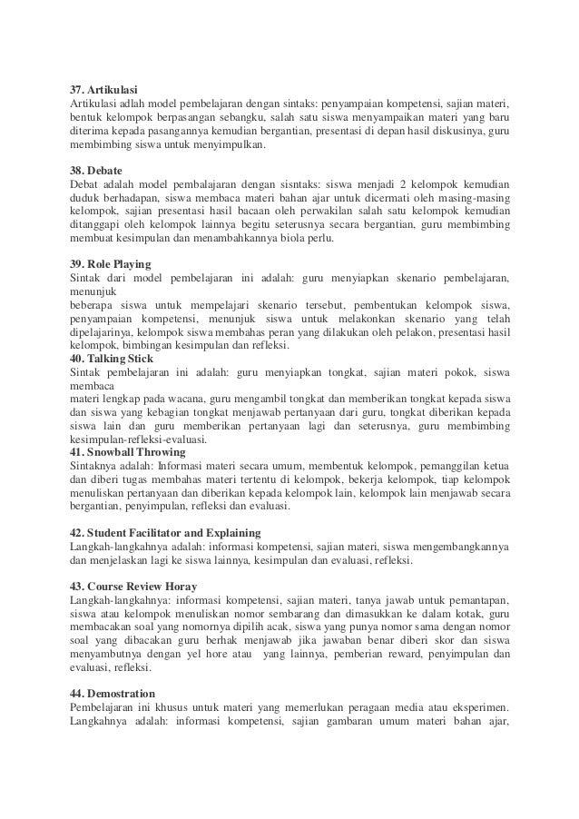 65 Model Pembelajaran