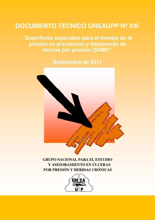 """1 Superficies Especiales para el Manejo de la Presión DOCUMENTO TÉCNICO GNEAUPP Nº XIII """"Superficies especiales para el ma..."""