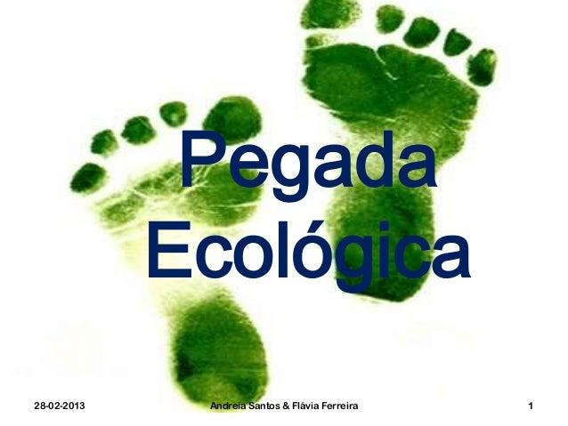 Pegada             Ecológica28-02-2013    Andreia Santos & Flávia Ferreira   1