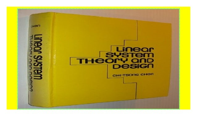Linear System Theory And Design Hrw Series In Electrical And Comput