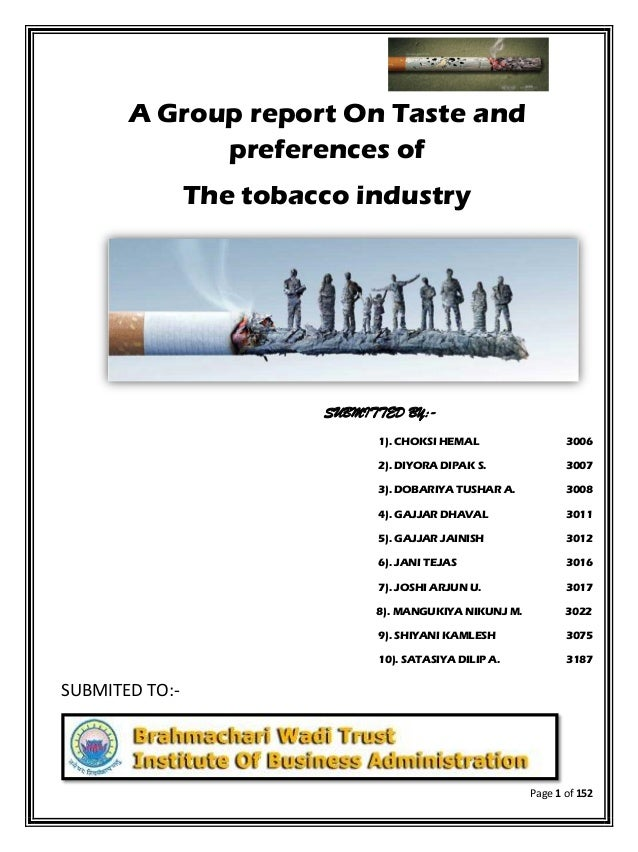 an analysis of the liability of the tobacco industry for its consumers Alan kerstetter acctg 404 tobacco industry analysis products to consumers tobacco products obviously involve a frequently due to the health liability.
