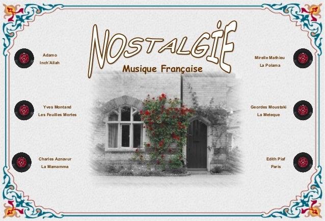 Adamo                                           Mirelle MathieuInch'Allah                      Musique Française          ...