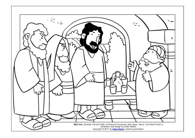 Coloring Page: Meals with Jesus: Jesus and Zacchaeus